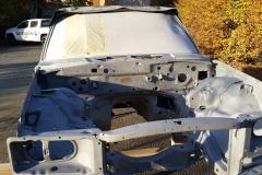 Mercedes W116 Motorraum sandgestrahlt